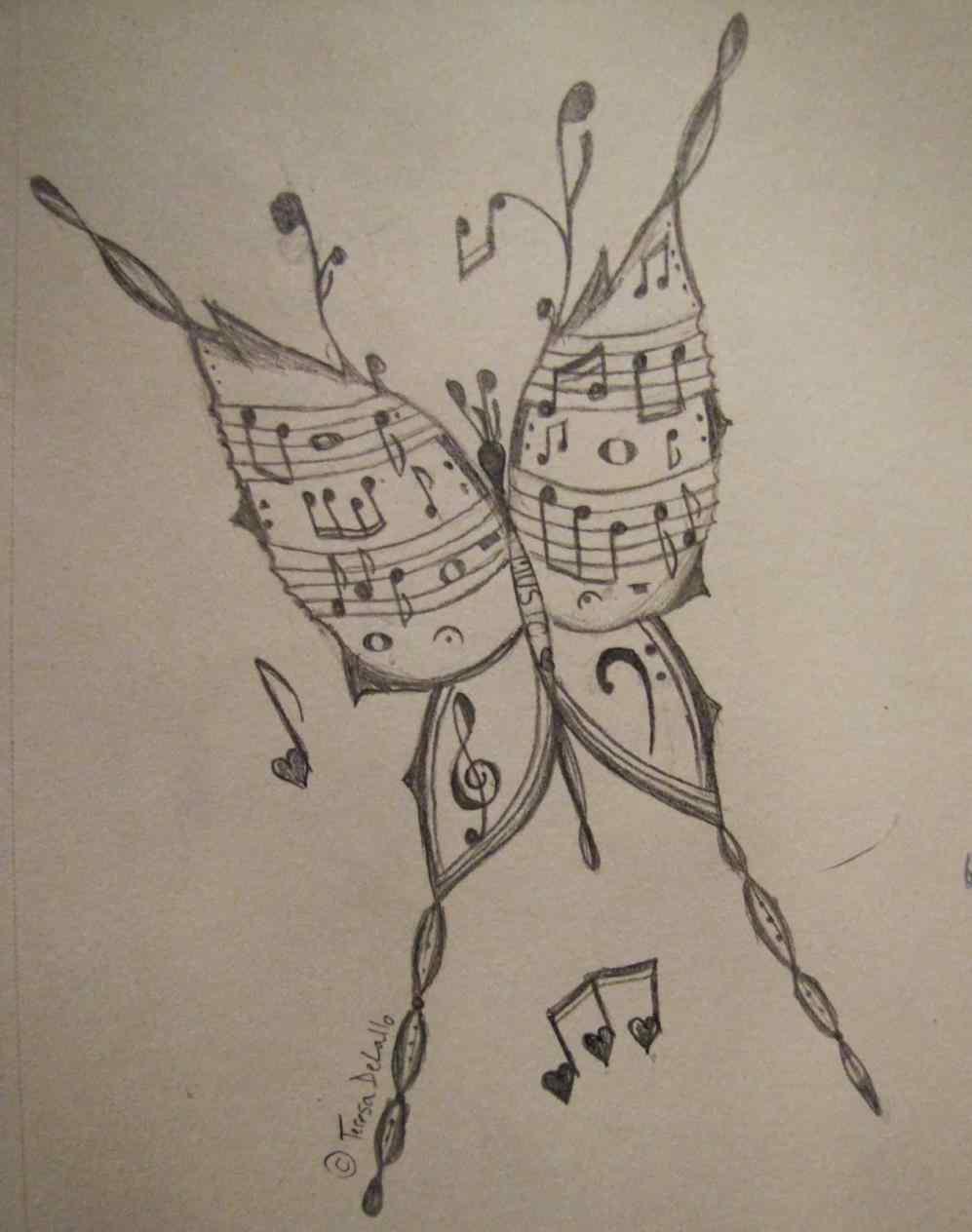 997x1264 Cool Music Notes Drawings Mayamokacomm