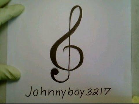480x360 How To Draw A Music Note Symbol Sign Easy Tattoo Como Dibujar Una