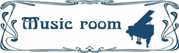 600x178 Music Room Door Sign Free Vector In Open Office Drawing Svg ( Svg