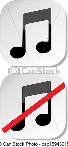 217x470 No Music Sign Eps 10 Vector Clip Art