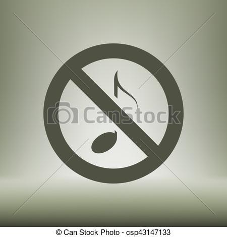 450x470 No Music Sign Vectors