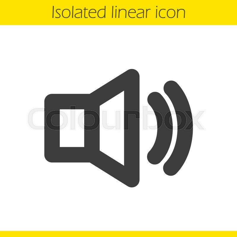 800x800 Volume On Linear Icon. Thick Line Illustration. Sound Control