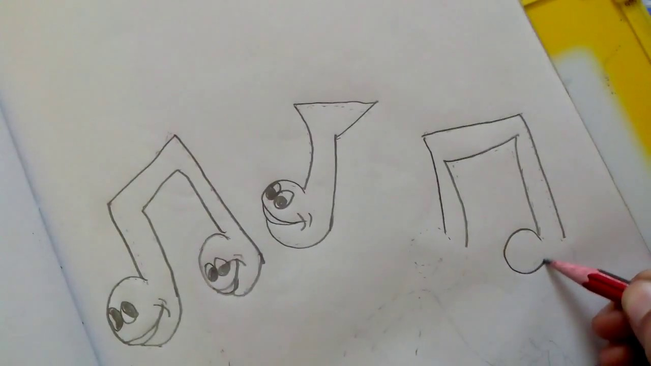 1280x720 How To Draw Cartoon Music Symbols