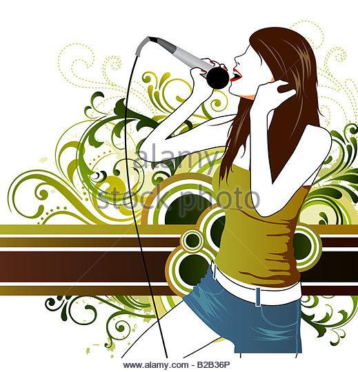 519x540 Illustration Drawing Music Girl Stock Photos Amp Illustration