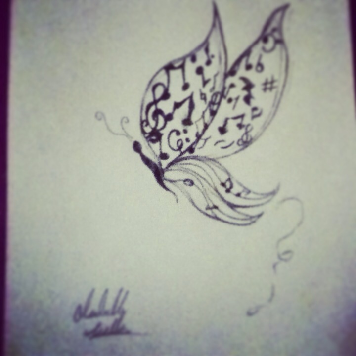 720x720 Musical Butterfly Teen Charcoal About Animals, Nature, Objects