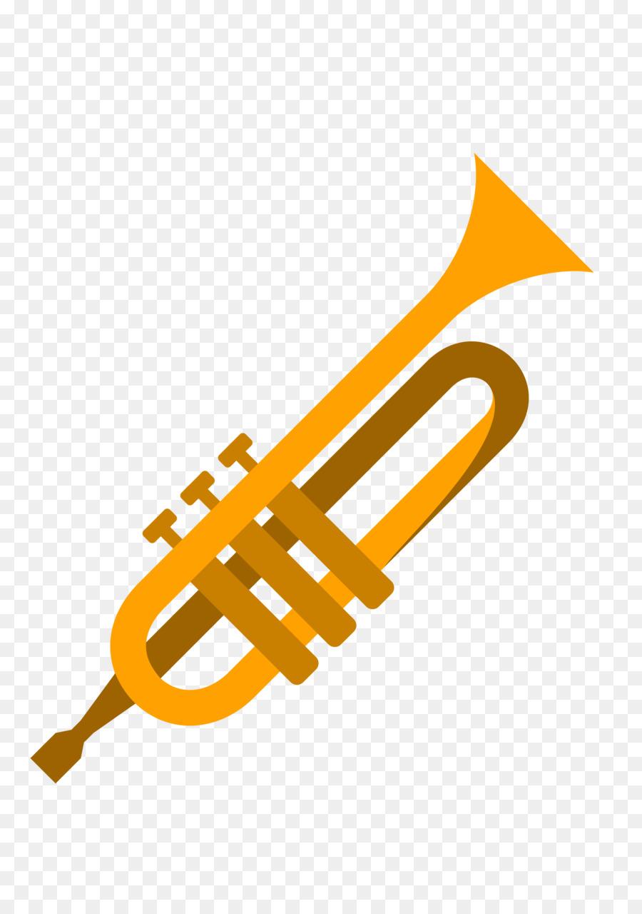 900x1280 Trumpet Cartoon Musical Instrument Drawing Mellophone