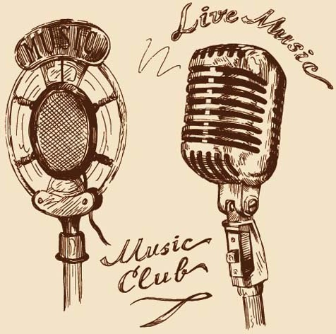 476x472 Hand drawn vintage musical instruments vector Free vector in