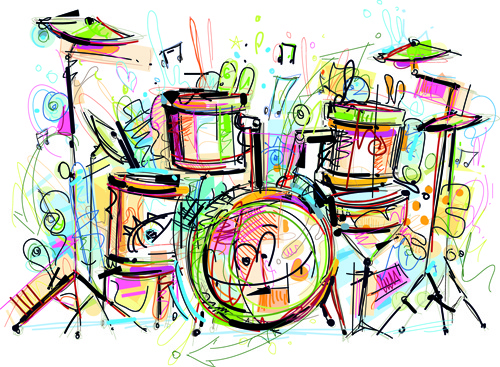 500x367 Musical Instruments Draw Hand Free Vector Download (94,392 Free