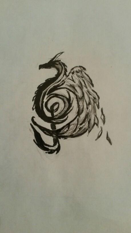 459x816 Dragon Music Note Drawing By Alysha Biljan Tattoo Ideas