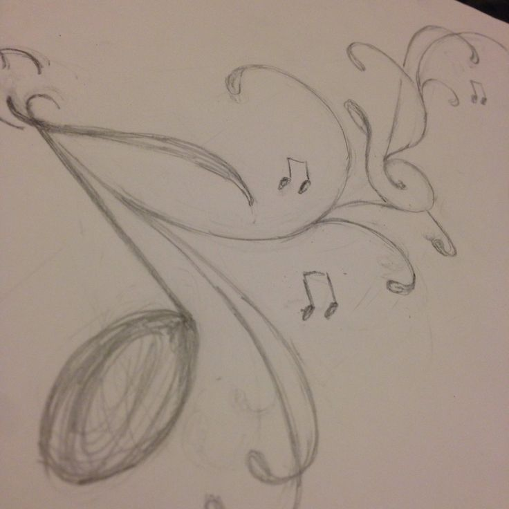 736x736 Drawings In Pencil Of Music Notes Beautiful, Nice And Note
