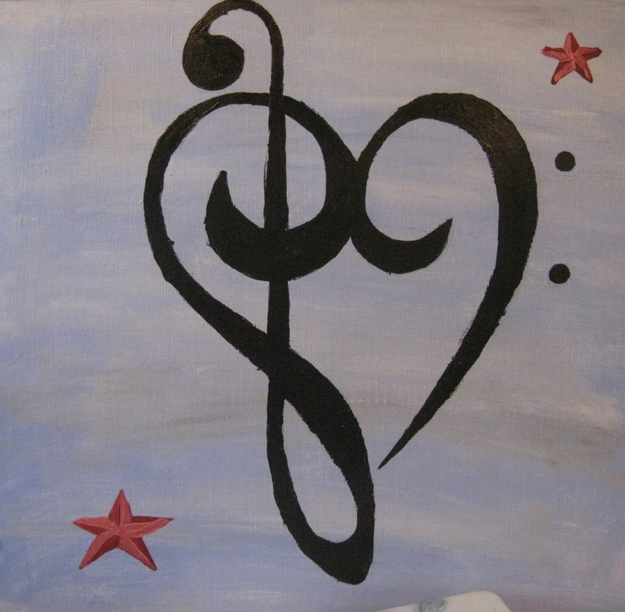 900x882 Music Note Heart By Snowleporddragon
