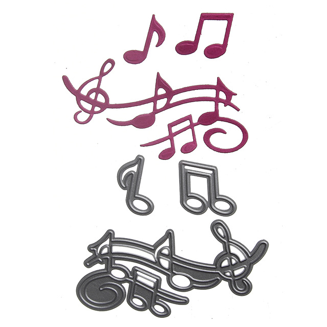 640x640 Kids Draw Toys Metal Cutting Dies Die Cut Stencil Musical Notes