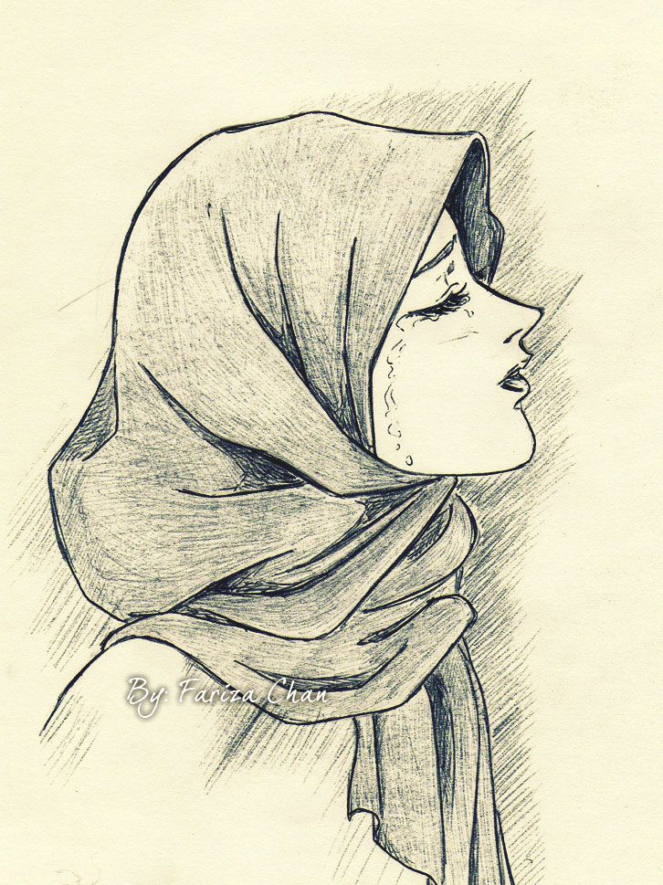 726x969 hijab cartoon on pinterest deviantart drawings muslim girls and