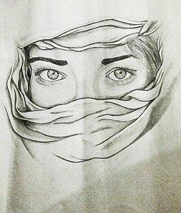255x300 Muslim Girl Drawings Fine Art America