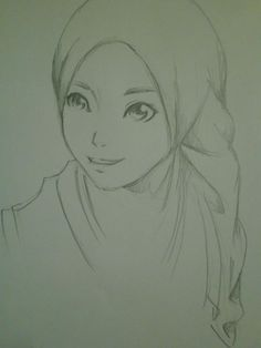 236x314 Pictures Muslim Girl Pencil Sketch Drawing,