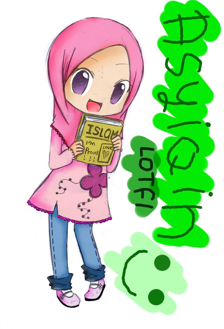 736x1084 Muslimah Anime Drawing By Chizurumihara