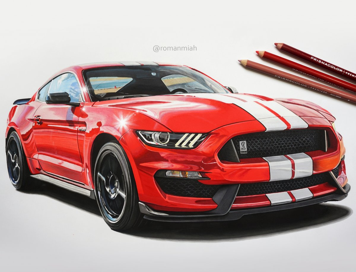 1200x917 Ford Mustang Shelby Gt350 Drawing