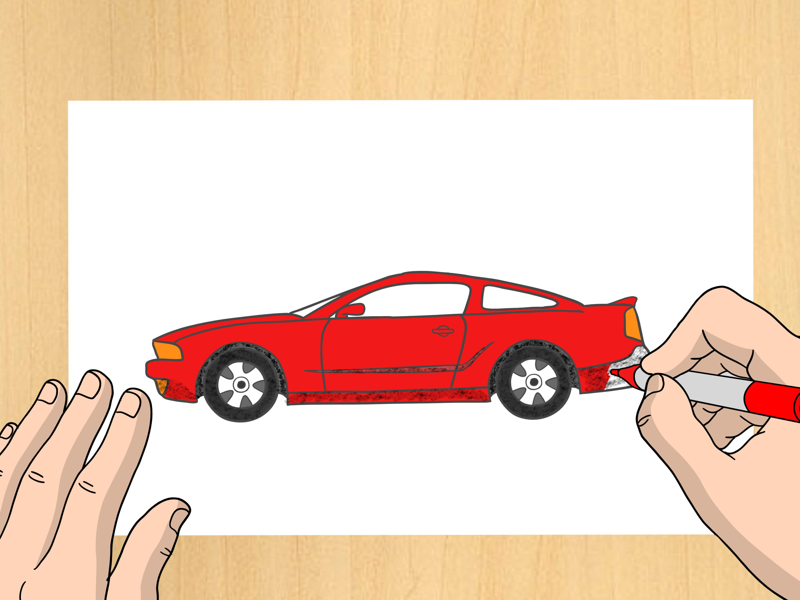 3200x2400 How To Draw A Ford Mustang 9 Steps (With Pictures)