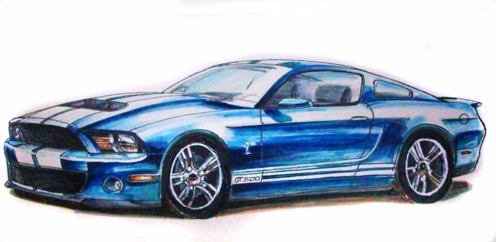 1024x499 Mustang Gt Drawing How To Draw A Gt Mustang Drawings