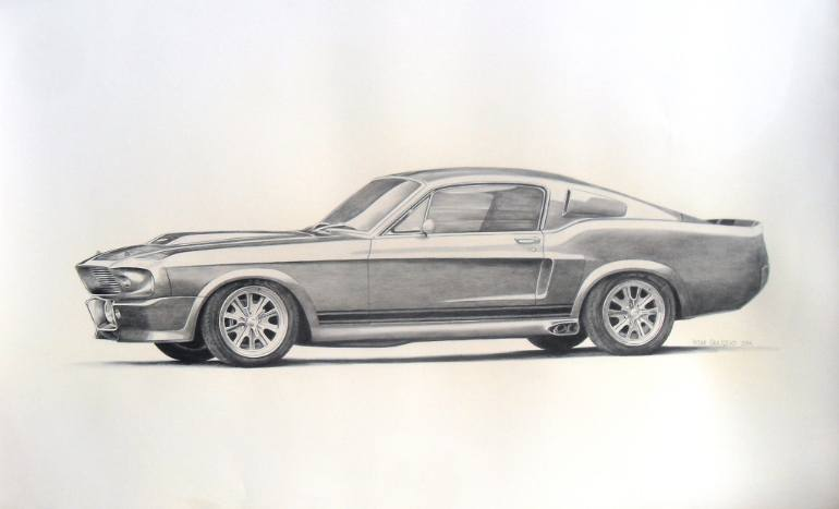 770x467 Saatchi Art Ford Mustang Drawing Drawing By Visar