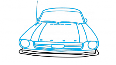 382x215 How To Draw Ford Mustang, A Car, Easy Step By Step Drawing Tutorial