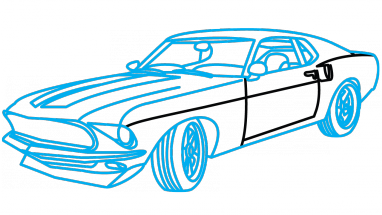 382x215 How To Draw Ford Mustang Anvil 1969, A Car, The Fast And Furious
