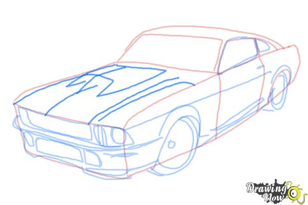 600x400 How To Draw A Ford Mustang