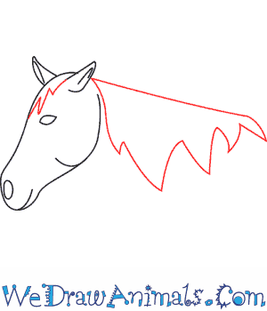 300x350 How To Draw A Mustang Horse