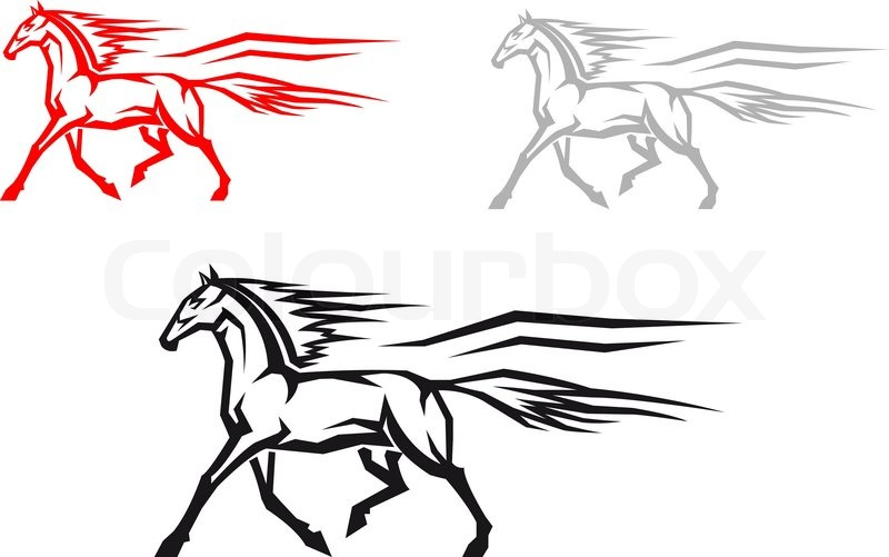 800x501 Fast Mustang Horse Stock Vector Colourbox