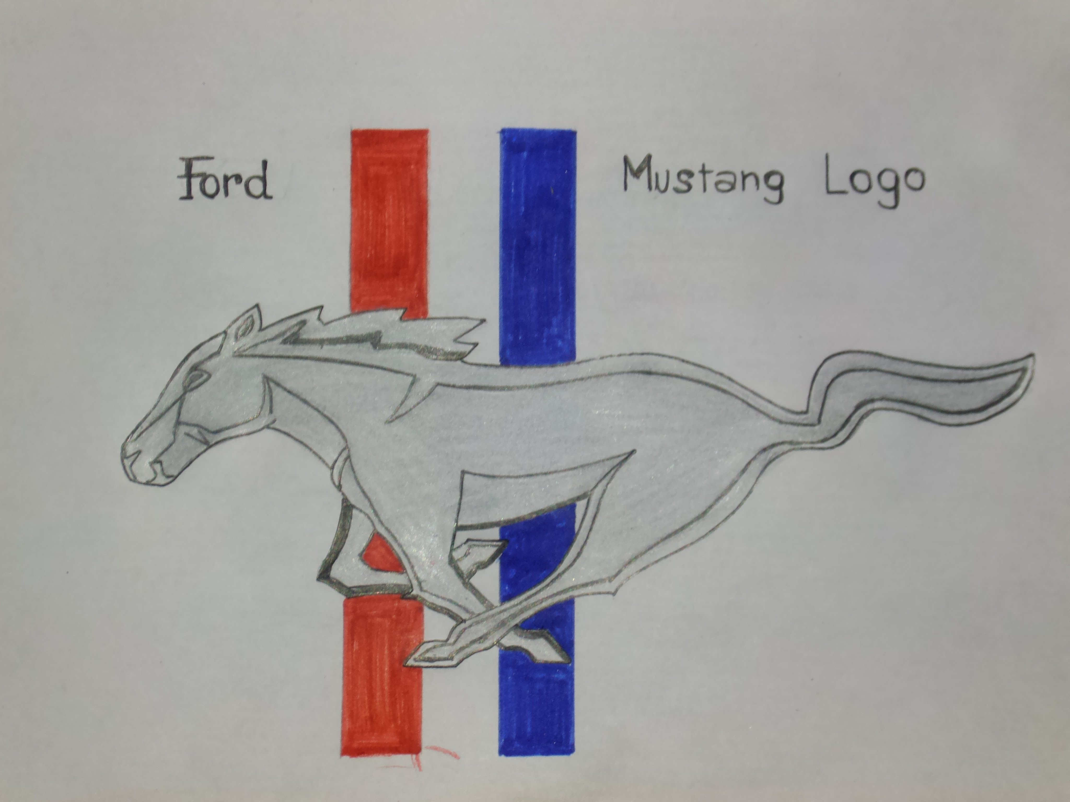 4096x3072 Ford Mustang Logo Drawing