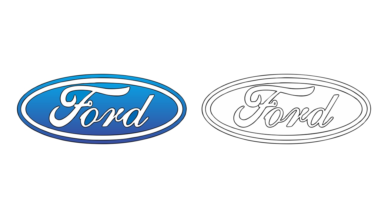 1280x720 How To Draw The Ford Logo (Symbol, Emblem)