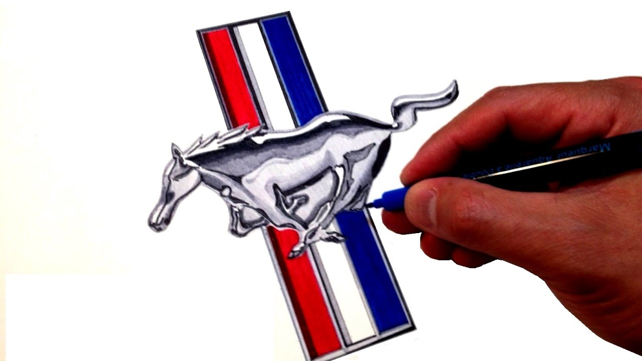 1280x720 How To Draw The Ford Mustang Logo