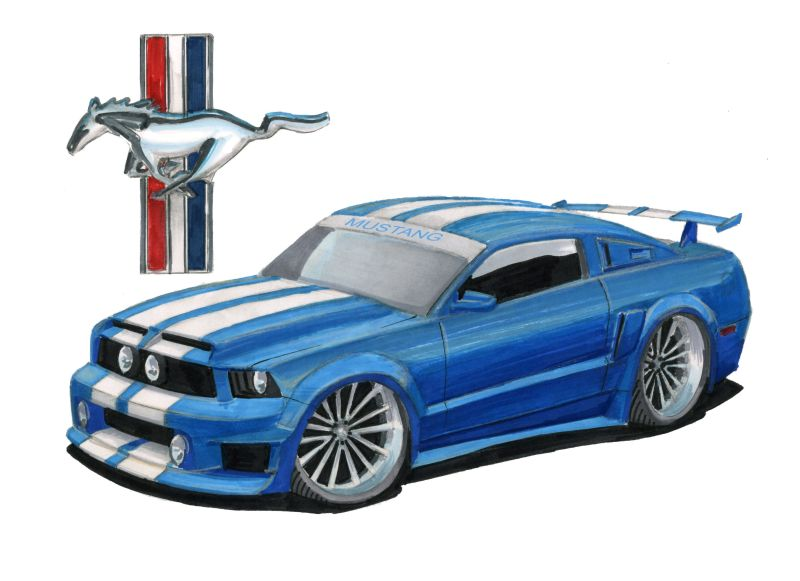 800x581 Ford Mustang Drawing. Great Mustang Gt With Ford Mustang Drawing
