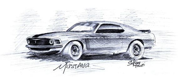 600x261 Mustang Drawings (Archives) On Behance