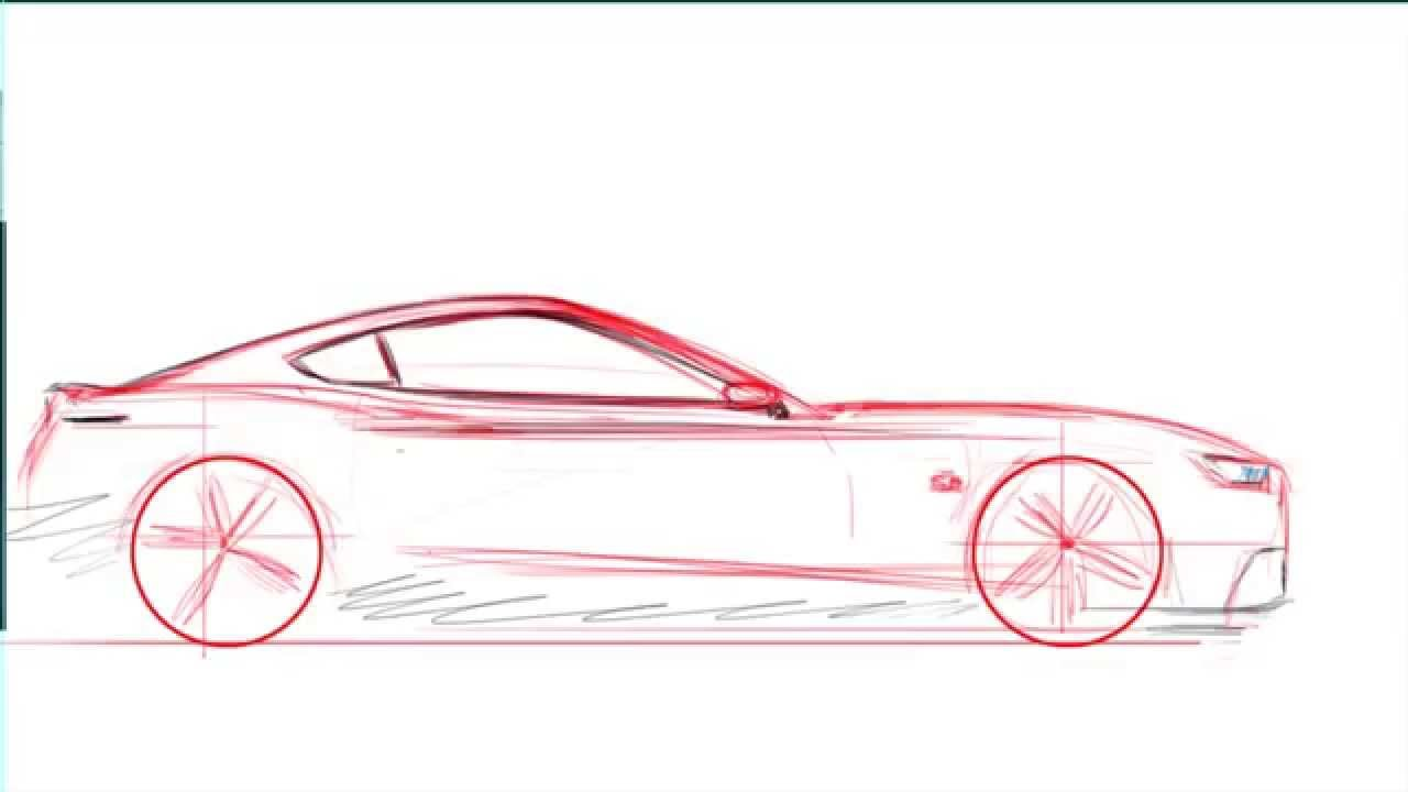 1280x720 Quick Sketching A 2015 Ford Mustang Gt