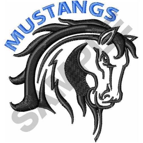 500x500 Animals Embroidery Design Mustangs Mascot From Great Notions