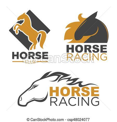 450x470 Horse Racing Sport Club Vector Isolated Running Mustang Vectors