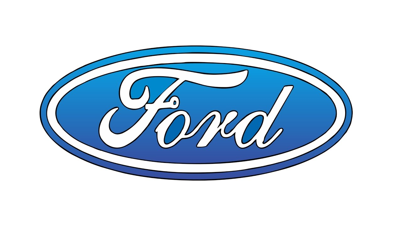 1280x720 How To Draw The Ford Logo (Symbol, Emblem)