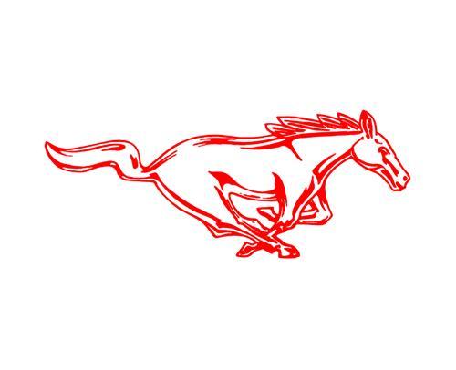 500x406 Mustang 8 Running Pony Decal Rh Red