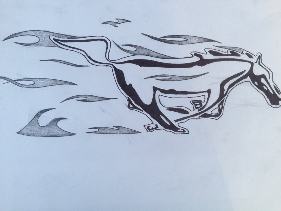 900x675 The Ford Mustang Logo (Tattoo Version) Byii Chan93