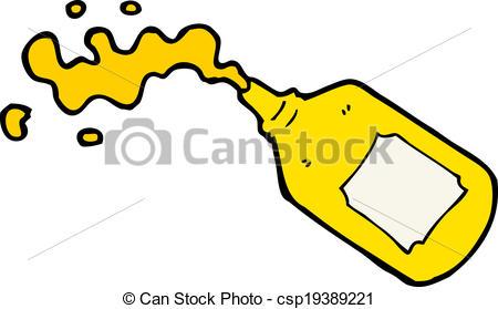 450x279 Cartoon Squirting Mustard Bottle Vector Illustration