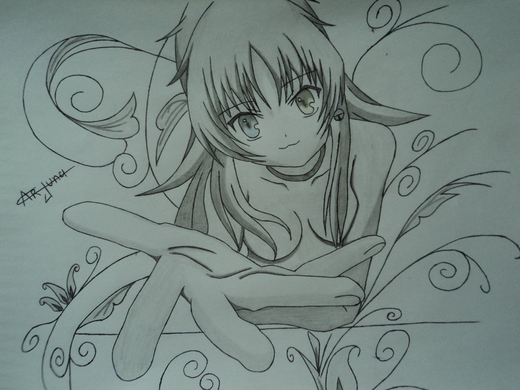 1024x768 My Imagination Drawing Of Neko From Anime (K) By Ravenx12