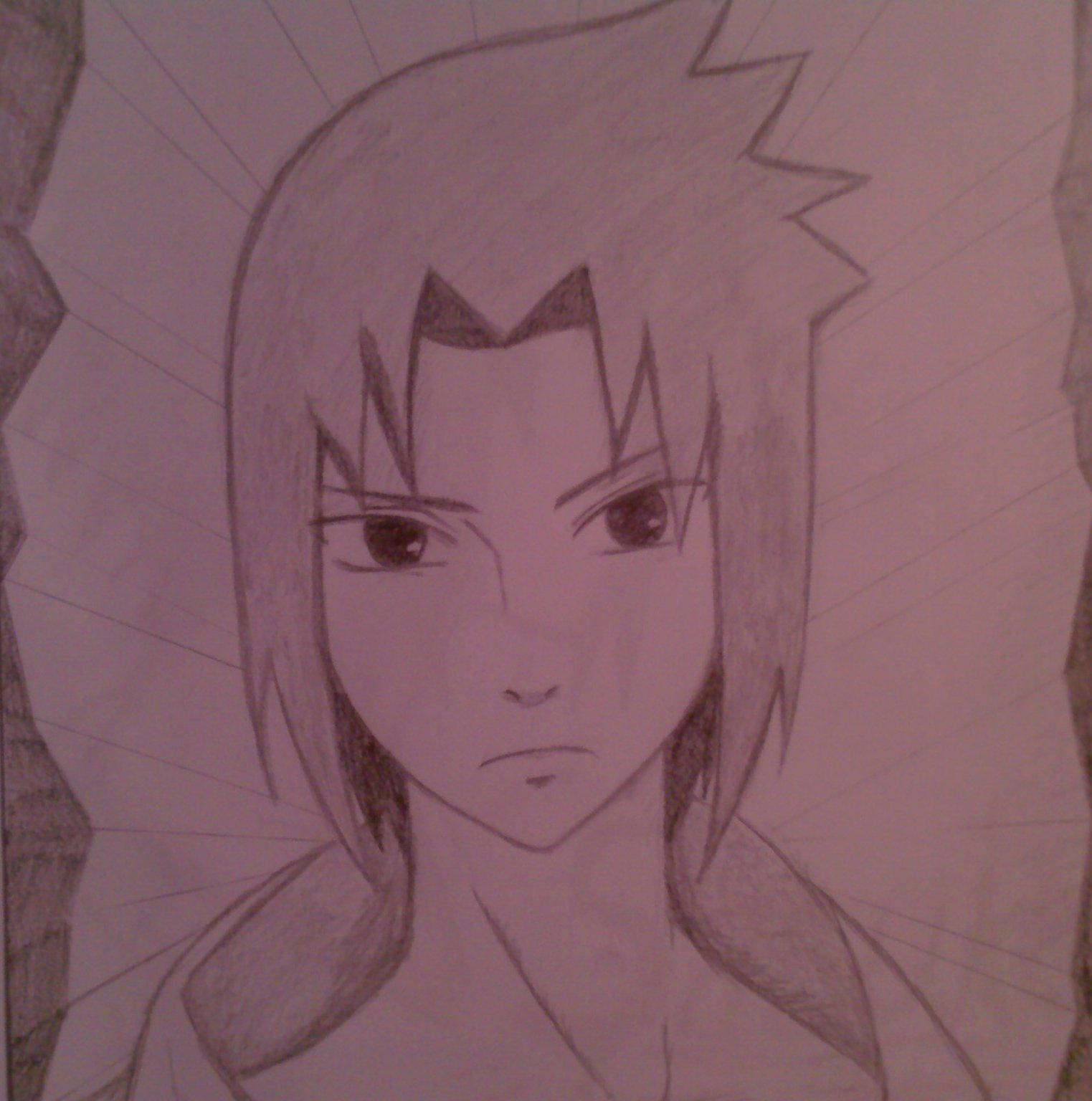 1523x1536 Drawing Anime Images My Draw Of Sasuke Hd Wallpaper And Background