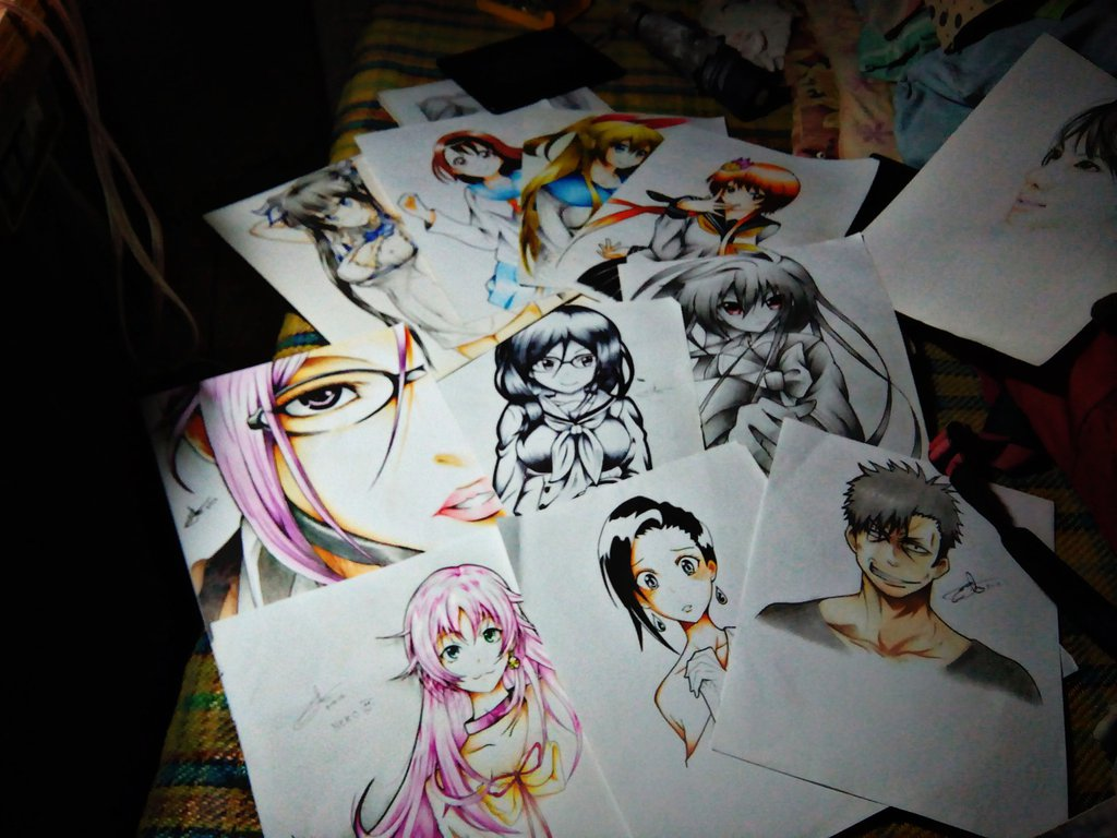 1024x768 My Anime Drawing Collection By Edriel031