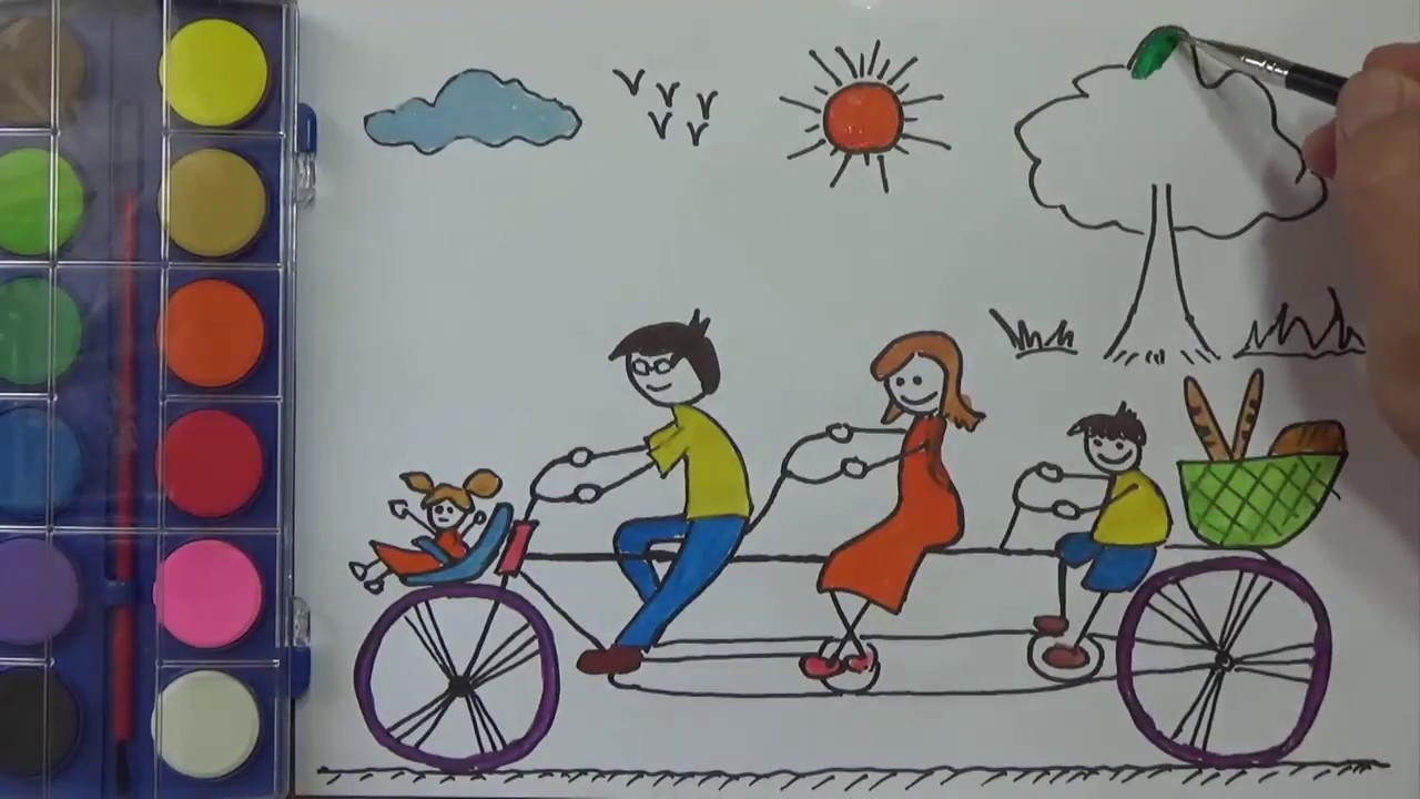 1280x720 How To Draw For Kids, My Family Coloring Pages, Painting