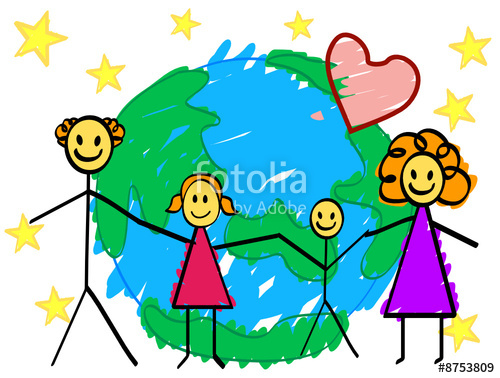 500x378 My Family (Child's Drawing) Stock Image And Royalty Free Vector