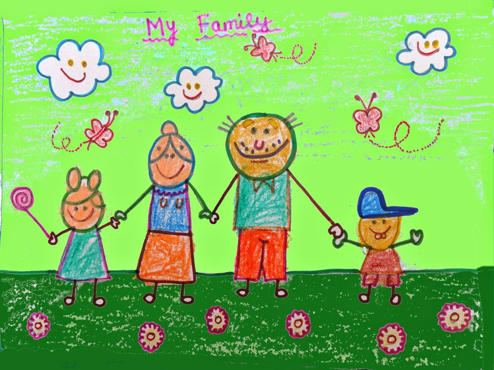 1600x1200 My Family Drawing Virtual Kidspace