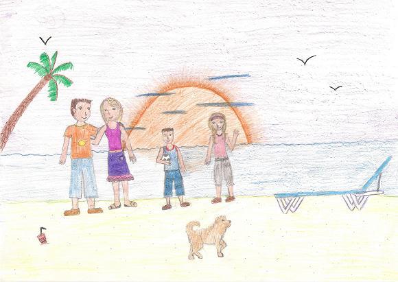580x411 Visual Arts Drawing My Family