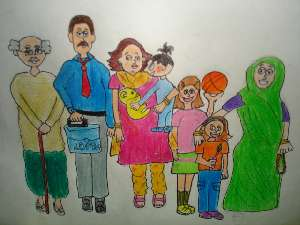 300x225 Art Created By Kids Art Description This Is My Family.i Love