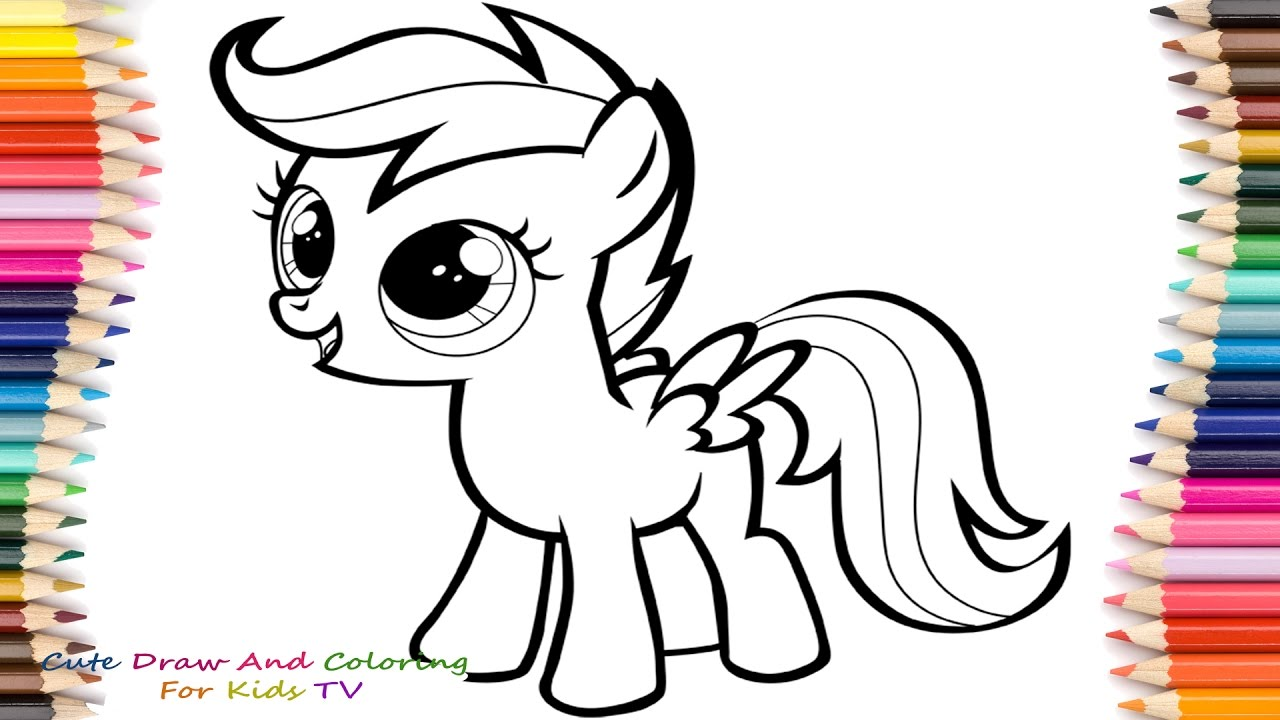 1280x720 How To Draw And Paint Scootaloo From My Little Pony My Little